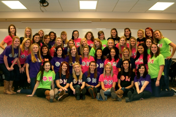 Phi Mu Rho Zeta Big Little Reveal 2012