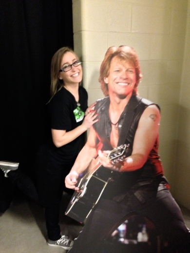 My photo with Bon Jovi at the Because We Can tour